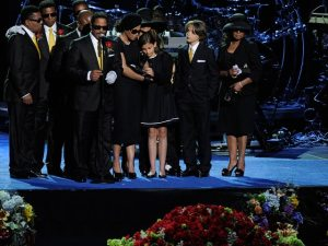 MJ's Family at the end of the memorial service