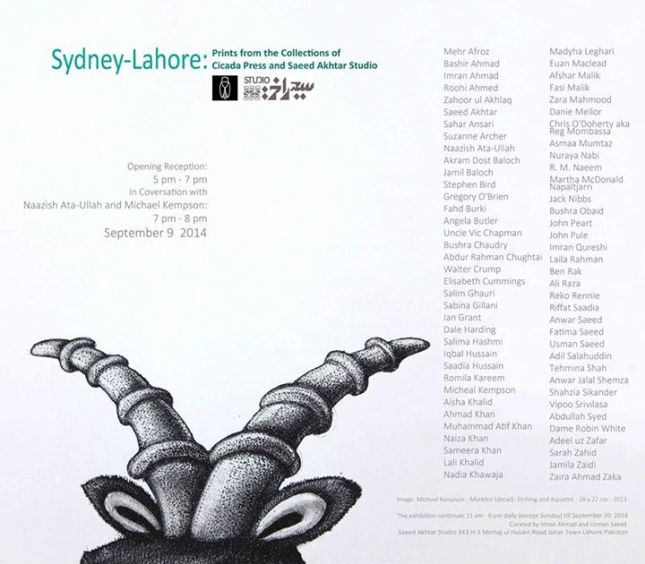 Sydney-Lahore, Prints from the Collections of Cicada Press and Saeed Akhtar Studio (II)